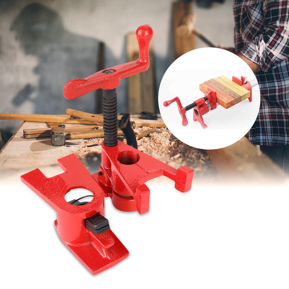 """8Pcs(4 set) 3/4"""" Clamping Blocks Pipe Clamps Woodworking Joint Hand Tool Set Red 2"""