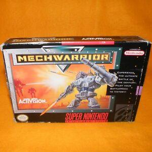 Vintage-1992-super-nintendo-entertainment-system-snes-jeu-MECHWARRIOR-cartouche