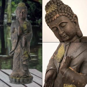 Détails sur Magnésie Buddha Statue Braun Extérieur Jardin Décoration Cour  Figure Asia 81 CM