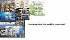 Vaticano Ватикан Vatican Vatikan 2016 - annata completa con Minifogli minisheets