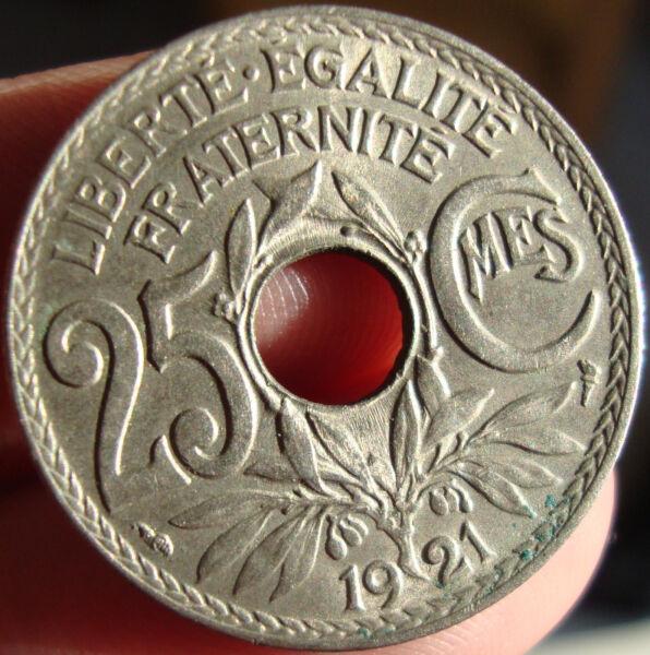 Adroit Monnaie Lindauer 25 Centimes 1921 Sup BéNéFique Au Sperme