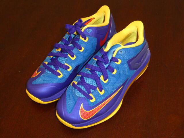 416eaea8c8ad Nike Max Lebron XI 11 Low GS Basketball Superman Blue Concord 644534 ...