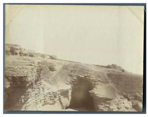 Egypte-Une-des-Grottes-a-Tourah-Tura-ou-Tora-vintage-citrate-print