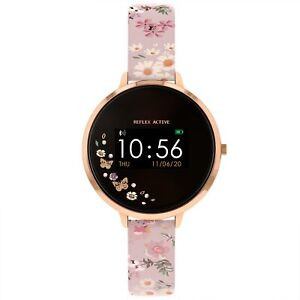 Reflex Active Digital Quartz Black Dial Leather Bracelet Womens Watch RA03-2058