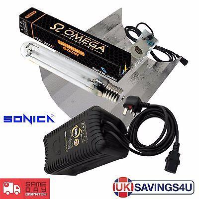 600w Grow Light Kit Omega PRO-V Ballast, HPS Dual Spectrum Lamp, Reflector Shade
