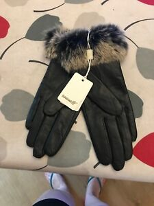 Warmen-Leather-Black-Gloves-BNWT