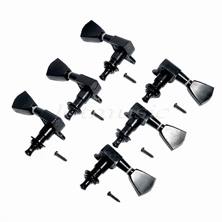 black tuning pegs tuners machine heads 3r3l for electric guitar parts keys ebay. Black Bedroom Furniture Sets. Home Design Ideas