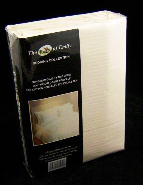 Emperor Bed Größe Duvet Quilt Quilt Quilt Cover 114  x 92  Cream 200 Tc 81cb9a