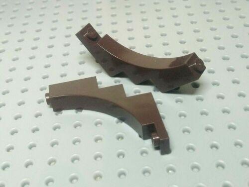 Dark Brown x2 Lego Arch Inverted Half 1x5x4 30099