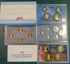 2009 SILVER~US MINT 18 COIN  PROOF SET~ W//TERRITORIES /& PRESIDENTS~~OGP