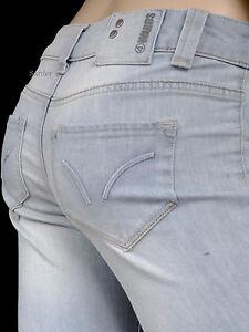 4-Wards-Jeans-Stretch-17-Sexy-Boot-Cut-Flared-Hell-Blue-Light-Bleach-34-L30-NEU