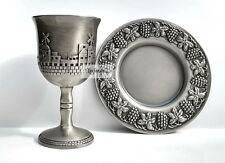 Jerusalem Wine Kiddush Cup Shabbat Goblet, Passover & Rosh Hashanah Judaica