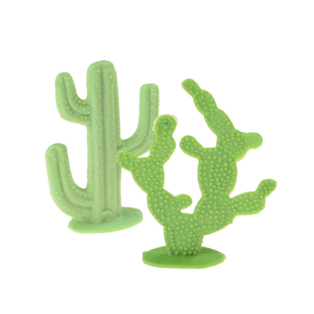 2X 6cm Cactus Plant Model Railway Park HO SCALE Layout Scenery Dollhouse