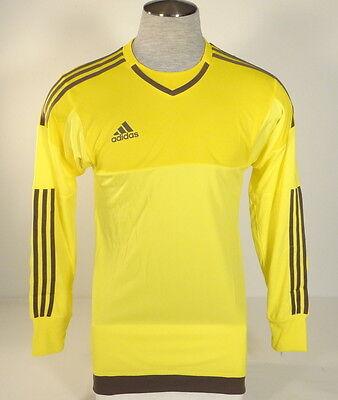Adidas AdiZero Top 15 GK Yellow & Gray Long Sleeve GoalKeeper Jersey Men's NWT   eBay