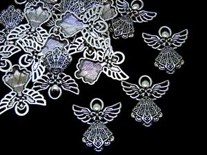 25mm-Tibetan-Silver-Angel-Charms-Christmas-Fairy-Jewellery-Pendant-Craft-ML