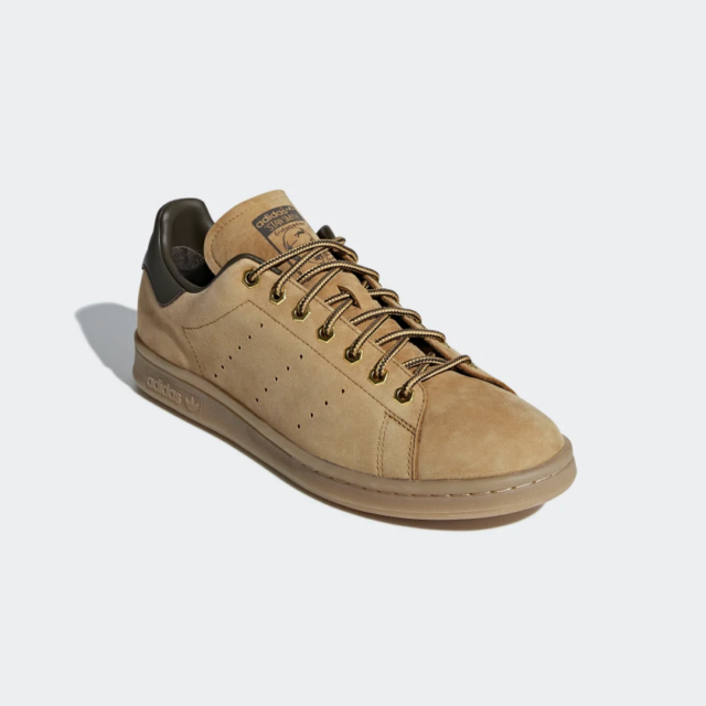 hot sale online 534af a267c Adidas STAN SMITH WP Sneakers Men Shoes gumshoes B37875 Brown Leather