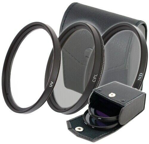 37mm filtro UV /& ND 4 filtro filtro gris /& filtro CPL POLARIZADOR para objetiva