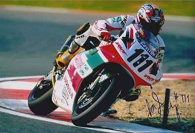 Aaron SLIGHT SIGNED Superbike Rider CASTROL HONDA 12x8 Photo AFTAL COA Autograph