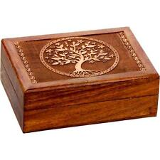 Etched Wood Tree of Life Stash or Tarot Box!