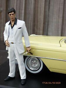 Cadillac-Series-62-Jada-1-18-Scarface-Al-Pacino-Raro-Coleccionable-De-Coche-Modelo-de-juguete