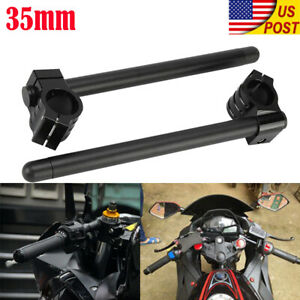 BlackPath Universal Fitment 7//8 Clip On Handlebars for 33mm Fork Tubes Motorcycle Fixed Handle Bar Clipons T6 Billet Black