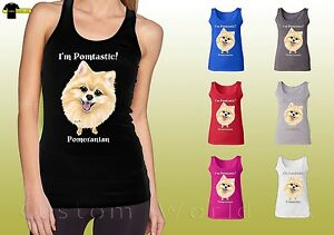 Pomeranian-Graphic-Shirts-Cute-Pomeranian-Face-Dog-Ladies-Tank-Top-19657hd4