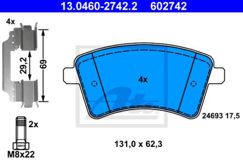 ATE Bremsbelagsatz Vorderachse 13.0460-2742.2 für MERCEDES-BENZ CITAN Kombi VA