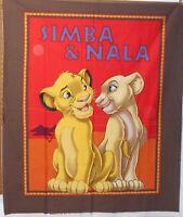 1 Disney Lion King simba And Nala Fabric Panel