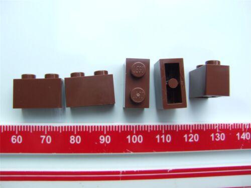 Parts /& Pieces – 4211149 size 1x2 5 x Lego Reddish brown rectangular bricks