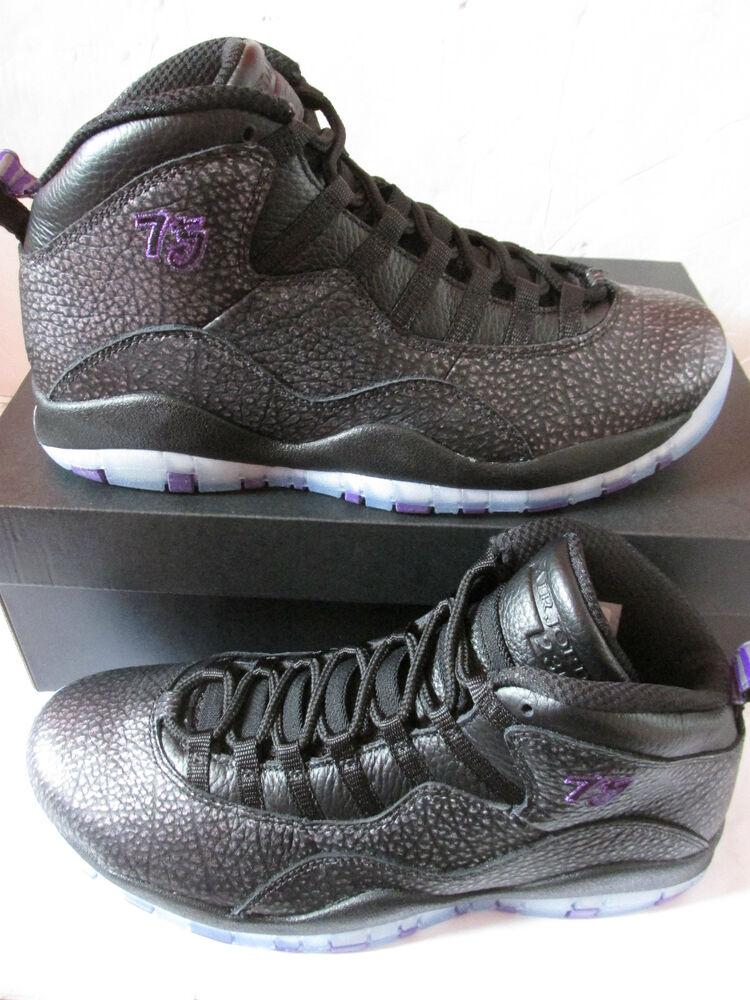 Nike Air Jordan Retro 10 Hi Top Basketball Baskets 310805 018 Baskets RARE-