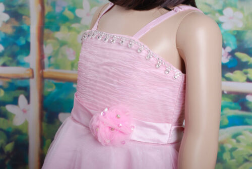 Flower Girl Party Dress Red Pink white Lilac 18 Months to 5 Years