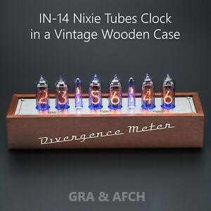 IN-14-tubes-Nixie-horloge-dans-une-Vintage-Coffret-en-bois-musical-USB-RVB-arduino