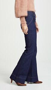 325-Ulla-Johnson-NEW-High-Waist-Flare-Dual-Buttons-Ashton-Sailor-Jeans-4-Indigo