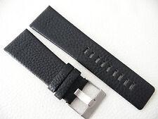 Herren Uhrenarmband Echtleder 28 / 24 mm Schwarz für DIESEL Uhren DZ 4182 1657