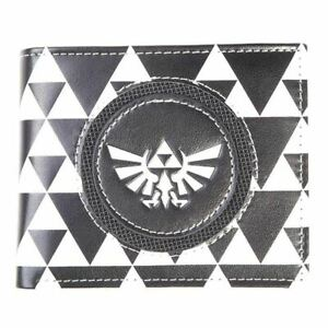Zelda Hyrule Royal Crest Badge Bi Fold Wallet Male Black White Mw617061zel Ebay