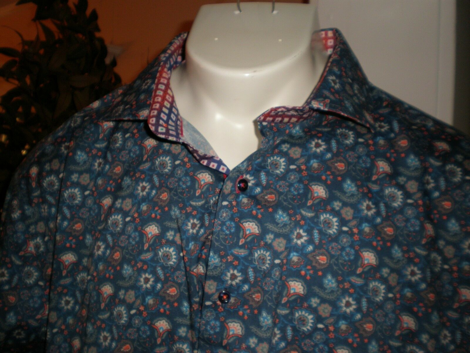NWT DANIEL HECHTER MULTI-COLOR L S DRESS SHIRT SZ 3XLT 3XT XXXLT RETAIL