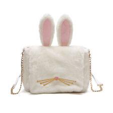 Cute Bunny Lovely Rabbit Ears Plush Crossbody Shoulder Bag Messenger Handbag New
