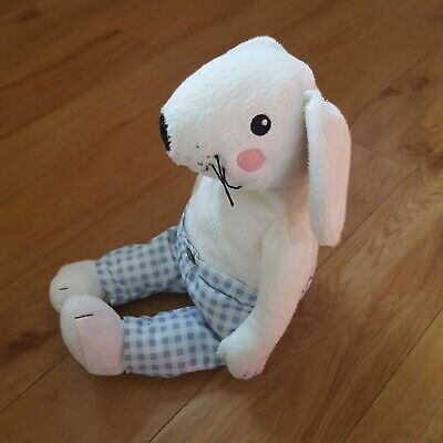Plush Stuffed Toy Singing Rabbit Hare Figure 25cm White
