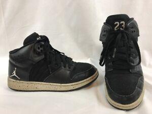 sale retailer 0c6d2 d4d46 Image is loading Nike-Jordan-1-Flight-4-Premium-Black-Pure-