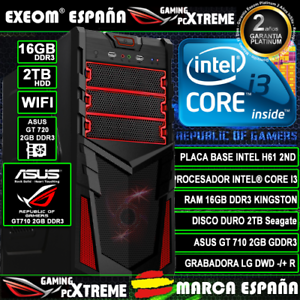 Ordenador-Gaming-Pc-Intel-Core-i3-16GB-DDR3-2TB-Asus-GT710-2GB-Wifi-Sobremesa