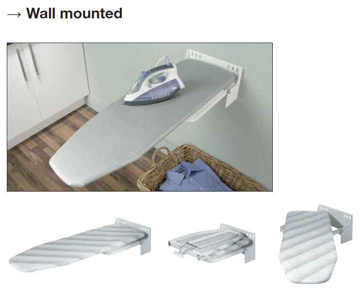 Wall Mounted Ironing Board - storage solution in your laundry or kitchen