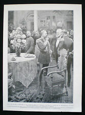 KAISER WILHELM II GERMANY HOTEL BAUR AU LAC ZURICH FORTUNINO MATANIA PRINT c1905