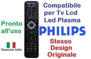 Telecomando universale per tutti i TV PHILIPS Lcd Led Smart TV 3D come Originale