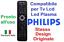miniatura 1 - Telecomando universale per tutti i TV PHILIPS Lcd Led Smart TV 3D come Originale