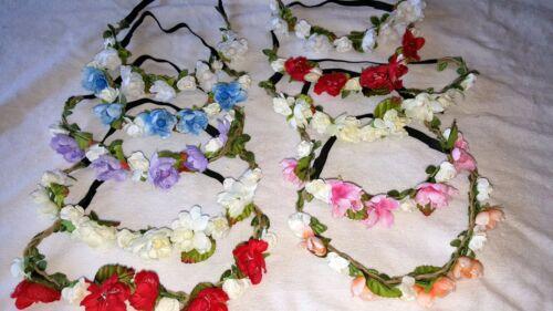 JOBLOT 20 piezas mixtas color Flor Elástico Diadema al por mayor