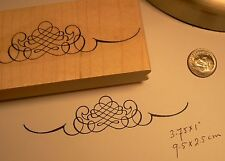 """P3   Scroll """"footer"""" rubber stamp WM 4x1"""""""