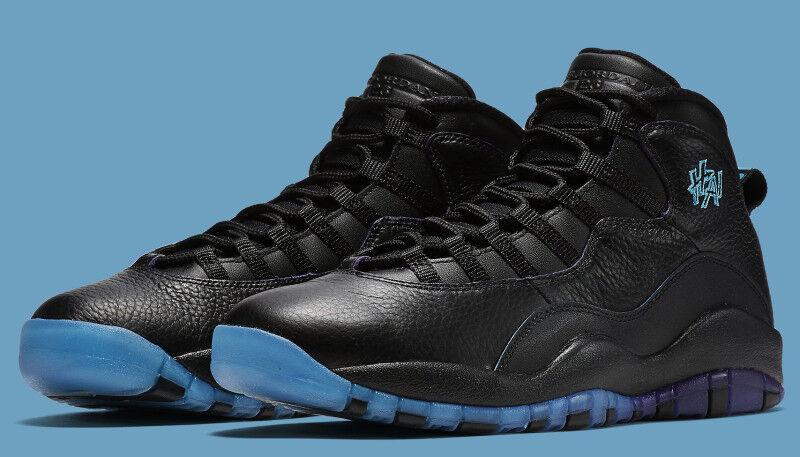 Nike air jordan retro - x 10 10 10 hai shanghai schwarz - lila 10,5.310805-024 6d1148