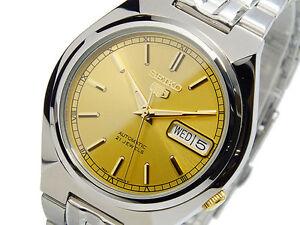 Seiko-5-Automatic-Herren-Armbanduhr-sehen-durch-hinten-snk303k1-UK-Verkaeufer