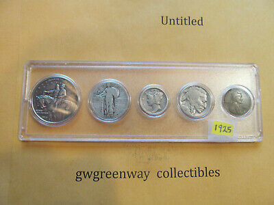 1925 Silver Birth year set 5 coins other years also