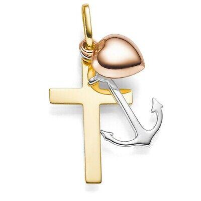 Unisex Anhänger Glaube Liebe Hoffnung 333 Gold Gelbgold Goldanhänger
